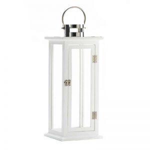 White Highland Wooden Lantern