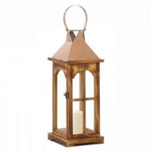 Rose Gold Wooden Lantern