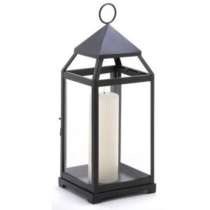 Gifts  Decor Large Contemporary Hanging Metal Candle Holder Lantern