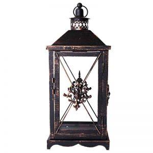 Large Damask Metal Lantern