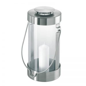 Stainless Steel Lantern with Candle