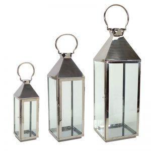 International Silver Lantern, Set of 3