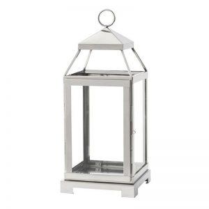 Malta Lantern Silver Finish Medium