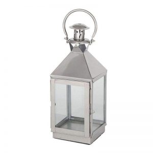 Small Stainless Steel Square Lantern