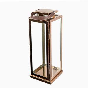 Rose Gold Stainless Lantern