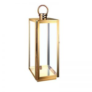 Golden Stainless Steel Candle Lantern