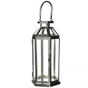 Modern Symmetry Geometric Stainless Steel Candle Lantern