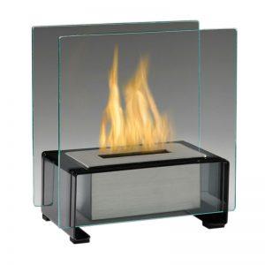 Tabletop Ethanol Fireplace, Black