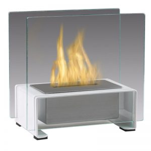 Tabletop Ethanol Fireplace, White