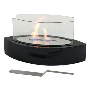 Ventless Tabletop Bio Ethanol Fireplace, black