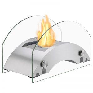 Harbor Stainless Steel Tabletop Ventless Ethanol Fireplace