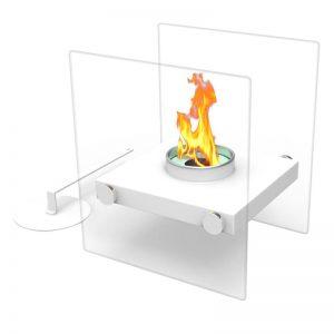 Tabletop Portable Bio Ethanol Fireplace, white