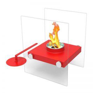 Tabletop Portable Bio Ethanol Fireplace, red