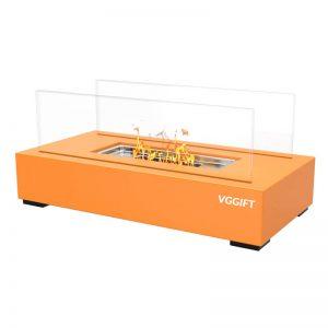 VGGIFT Tabletop Portable Bio Ethanol Fireplace, Orange