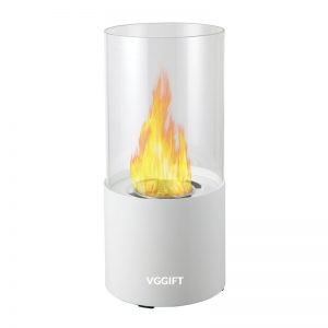 Ventless Ethanol Fireplace, White