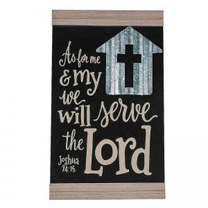 As For Me & My House Door Sign