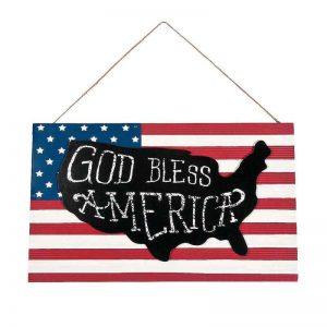 God Bless America Flag Sign