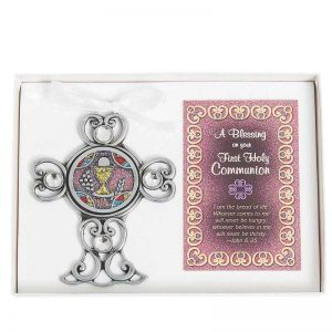 First Communion Cross with Card