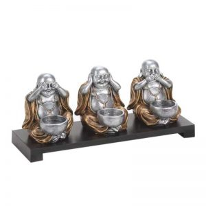 home decor No Evil Buddha Candle Stand