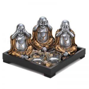 No Evil Buddha Candle Garden