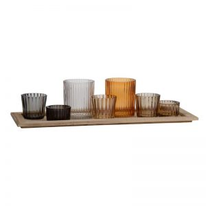 16×5.5×4.5″ Harlan 7-Votive Candle Plate