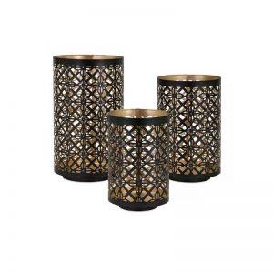 Pierced Outdoor Lanterns (Set of 3)