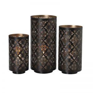 Metal Luminaries Set of 3