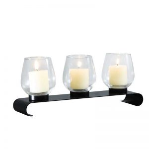 Vggift Decorative Iron Vertical Table Standing Vintage Tab Bubs Style Candle Pillar Holder