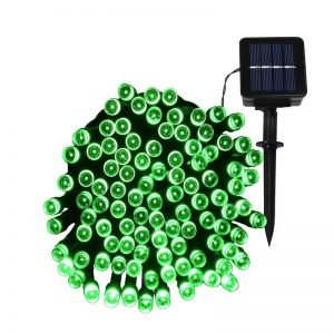 LED Solar Powered String Lights -green