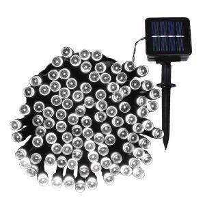LED Solar Powered String Lights -white