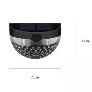 Solar LED Outdoor Lighting Waterproof Garden Light Sensor Light with Auto on at Dusk/ Off at Dawn (Pack of 4) – Black
