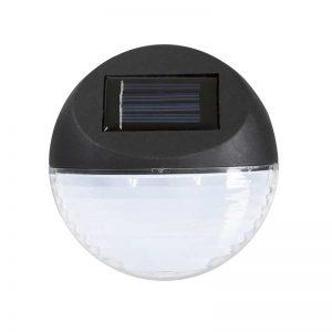 Pure Garden Black Round Solar LED Lights (Set of 4)