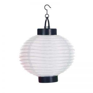 Outdoor Solar LED White Chinese Lanterns (Set of 4)