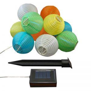 Solar Powered Nylon String Multi-colored Lights (Set of 10)