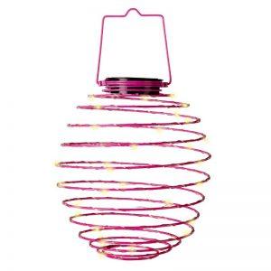 Red Solar Spiral Lantern 14-in